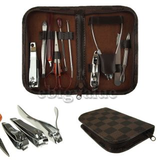 Nail Clipper Nipper Cutter Pedicure Manicure Set Kit Case Bag
