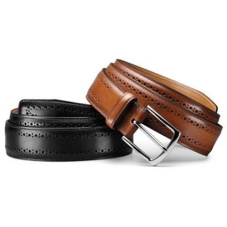 Allen Edmonds Mens Manistee Black Calf Belt Size 38