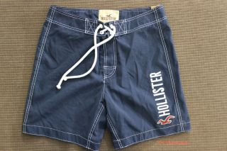 Hollister Men Navy Blue Manhattan Beach Swim Board Shorts Swimwear