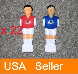 22 Pcs Red Blue Foosball Men Table Soccer Player