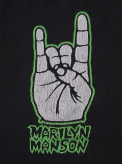Marilyn Manson Vintage 1995 Concert T Shirt