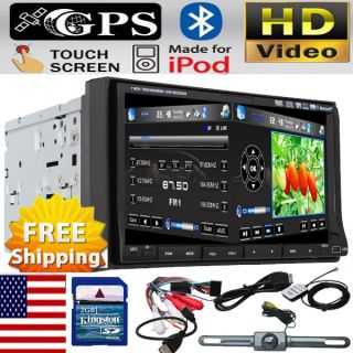 IR2230 GPS MAP Camera Double Din In Dash 7 Car Stereo DVD Player Radio