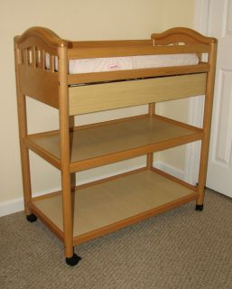 Baby Changing Table Natural Maple Finish