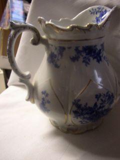 Vintage Mellor Taylor England Flow Blue Pitcher