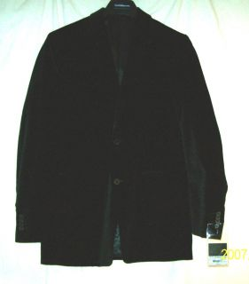 Marc Anthony Mens Size 40 Regular Black Velvet Blazer Sports Jacket
