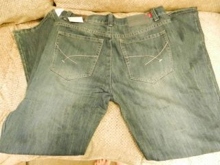 New Mens Marc Ecko Unltd Relaxed Fit Blue Denim Jeans w 36 L 32 $72
