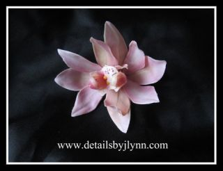 Mauve Cymbidium Orchid Bridal Wedding Hair Flower Clip Bride Floral
