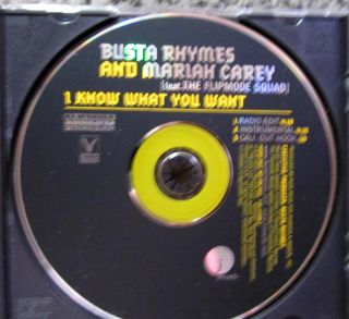 Busta Rhymes Mariah Carey I Know What You Want 3trk UNPLAYED Radio