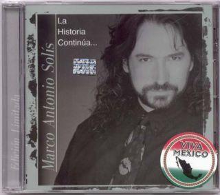 Marco Antonio Solis La Historia Continua 1 New CD