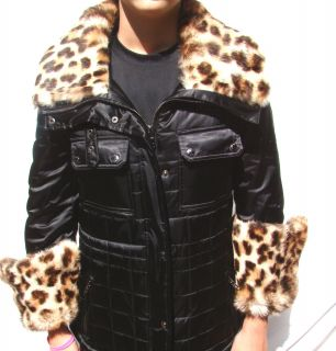 498 Marc New York Andrew Marc Real Fur Trim Jacket Black