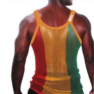 Mesh Pendeen Vest Tank Top Lion Selassie Marcus Garvey XL