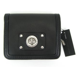 Marc by Marc Jacobs Totally Turnlock Short Snappy French Leather