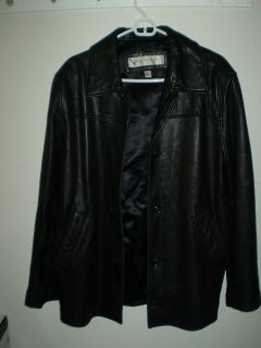 Marc New York Andrew Marc Black Leather Jacket Coat Buttery Soft Mens