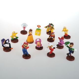 Super Mario Yoshi Luigi Goomba Brother 13 Figures Set Toy Nintendo A