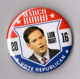 Marco Rubio Political Campaign Button Pin 2016