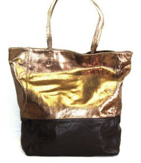 MARGOT Lizard Embossed LEATHER TOTE BAG BRONZE BROWN Handbag PURSE