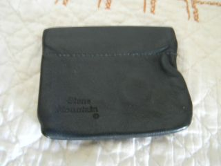 Stone Mountain Dark Blue Soft Leather Squeeze Coin Change Purse