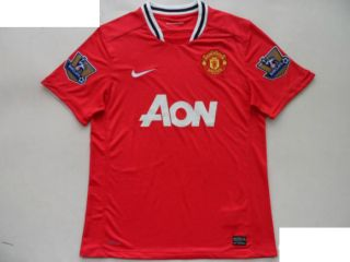 MANCHESTER UNITED SOCCER JERSEY SHIRT HOME CHOICE NUMBER NAME PATCHS