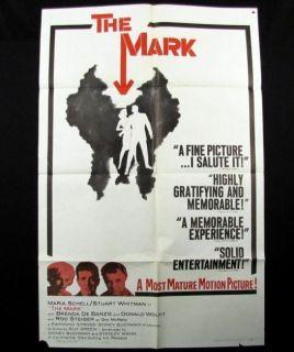 The Mark Original Movie Poster 1961 Rod Steiger Schell