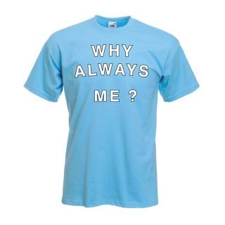 """Balotelli """"Why Always Me"""" T Shirt Manchester City All Sizes Inc"""