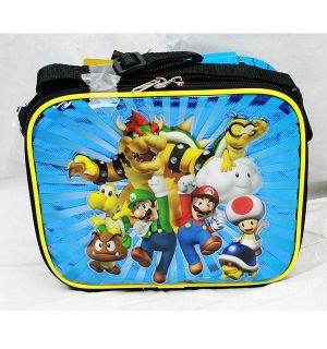Mario Brothers Bros Insulated Lunch Bags Box Authentic Mario Luigi