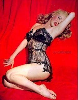 Marilyn Monroe Ad Calendar Lure of Lace Pinup Litho 1955 RARE Golden