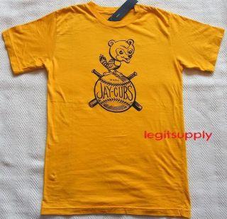 Marc M Jacobs Mari Gold Jaycubs Tee T Shirt Medium