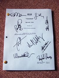 NCIS Cast Signed Script Mark Harmon 9