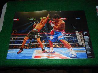 2011 Mint Print clipping Manny Pacquiao Juan Manuel Marquez Boxing