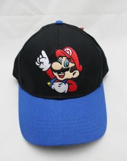 Licensed Nintendo Wii Super Mario Kids Canvas Cap Hat w Red Mushroom