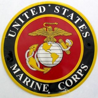 12 in U s Marine Corps Logo Metal Garage Shop Sign Semper Fi