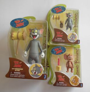 Warner Brothers Hanna Barbera Tom and Jerry Action Figure Lot Set 4