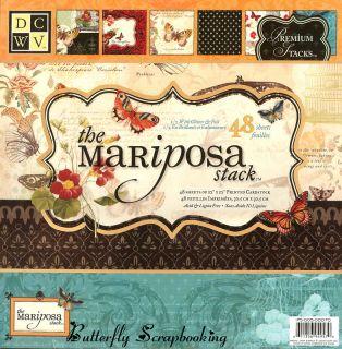 Mariposa 12x12 Scrapbooking Paper Pad 48 Sheets New