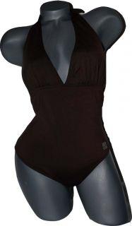 Manuel Canovas Paris Swimsuit Halter Brown Sexy T3 8 10 Luxe Designer