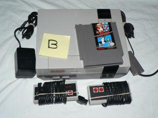 Nintendo System w Accessories Mario Bros Duck Hunt B Excellent