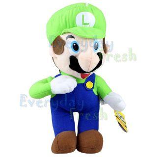 Super Mario Bros Luigi Red Stand 12 Plush Figure Doll Toy