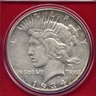 1934 S Peace Silver Dollar Rare Key Date High Grade PQ Stunner US Mint