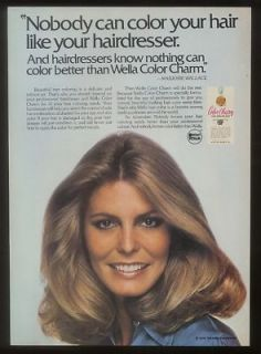 1979 Marjorie Wallace Photo Wella Hair Color Print Ad