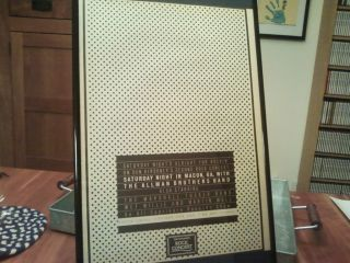 Big 11x17 Framed Allman Brothers Band Marshall Tucker TV Show Concert