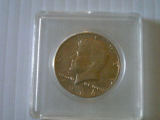 SIX 1964 ALL D MINT MARK KENNEDY HALF DOLLARS HAIR COIN SURVIVAL