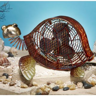 Deco Breeze Decorative Sea Turtle Figurine Table Fan