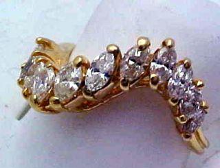25 Carat Marquise Diamond Ring 14k Gold Make An OFFER