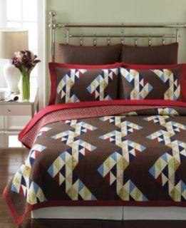 Martha Stewart Patchwork Zigzag Full Queen Reversible Quilt