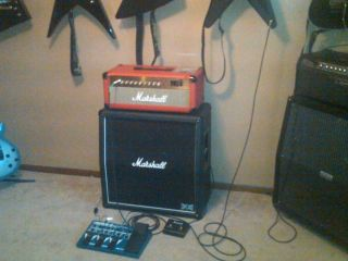 Marshall MG100FX Red Amp Head with Footswitch