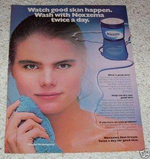 1981 Ad Mariel Hemingway Noxzema Skin Beauty Vintage Ad