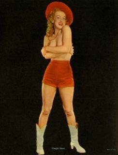 Marilyn Monroe Calendar Caught Short Willinger Pinup 1953 Golden