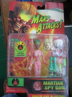 Mars Attack Martian Spy Girl Talking Action Figure Trendmasters 1996