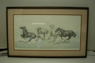 Mary Ann Lis Les Chevaux Signed Artist Proof