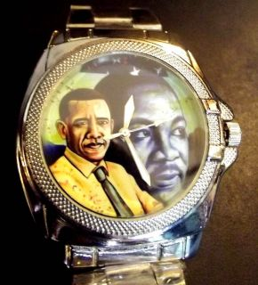 Barack Obama as Martin Luther King Jr Black Pride Campaign Promo Wrist