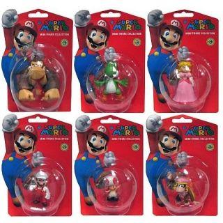 Super Mario Bros Nintendo 2 Wave 3 Figure Set of 6